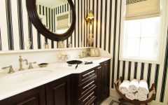 Black And White Bathroom Interior Decoration