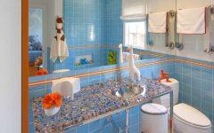 Blue Contemporary Kids Bathroom