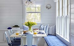 Breakfast Nook in Blue and White