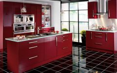 Burgundy Kitchen Furniture Ideas