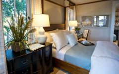 Canopy Bed Anchors Coastal Master Bedroom