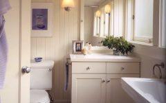 Chic Cottage Bathroom With Beadboard Walls