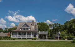 Classic Cape Cod Style House Exterior With Front Porch