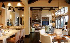Classic Living Room Interior in Open Floor