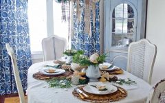 Coastal Dining Room With Holiday Table Setting