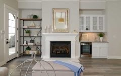 Coastal Living Room Features White Wet Bar