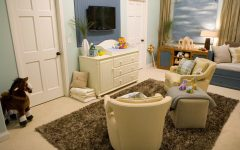 Coastal Nursery With Soft Blue Color Scheme