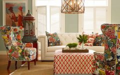 Colorful Patterns and Tropical Accents Living Room Decor