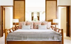 Comfortable Coastal Bedroom With Mix of Patterns