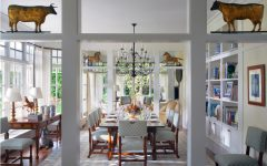 Comfy American Dining Room In Country Style