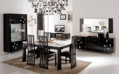 Contemporary European Dining Room Furniture and Cabinet Ideas