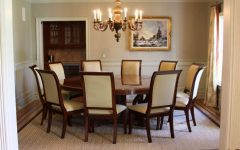 Contemporary Luxury Round Dining Room Design