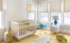 Contemporary Nursery Yellow Color Accents