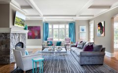 Contemporary Pop Living Room Color Accents