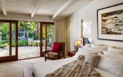Contemporary Sliding Glass Door for Modern Tropical Bedroom