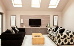 Contemporary Wooden Wall Panel and TV Stand Wooden Cabinet