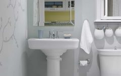 Cottage Pedestal Sink for Small Vintage Bathroom