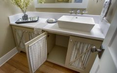 Cottage Style Bathroom Vanity and Rectangle Vessel Sink