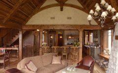 Cozy Craftsman Living Room Features Exposed Beam Ceiling