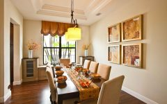 Cozy European Dining Room Wall Paint and Decor 2014