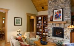 Craftsman Style Family Room With Stone Fireplace