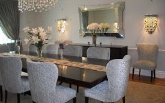 Deluxe Dining Room Furniture With Crystal Chandelier