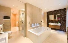 Deluxe Modern Bathroom with Ceramic Tiled