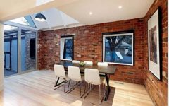 Dining Room With Bricks Wall