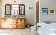 Double Rustic Vanity for Cottage Master Bath