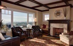Elegance Vintage Brown Craftsman Living Room