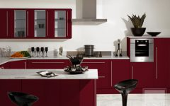 Elegant Burgundy Kitchen Ideas 2013