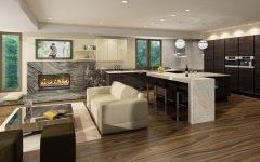 European Kitchen Design with Fireplace