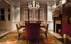 Formal Luxury Dining Room With Crystal Chandelier