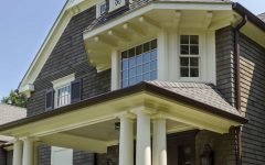 Front Porch With Large Pillars Design at Colonial Home