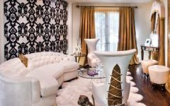 Glamorous Gold Accented Art Deco Living Room