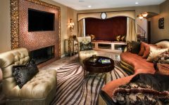 Glamour Eclectic Living Room With Zebra Print Rug