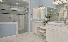 Gorgeous American Bathrom in Blue and White Color