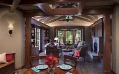 Gorgeous Cherry Wood Abounds in Rustic Living Room