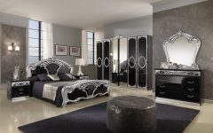 Gothic Bedroom Furniture Decor for Large Interior