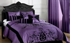 Gothic Bedroom in Purple and Black Color