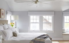Gray Master Bedroom With Coastal Design