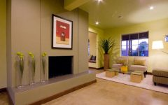 Green Living Room Drywall Design