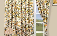 Harmonious Floral Curtain Pattern