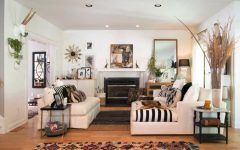 Indian Living Room With White Sofa and Wooden Flooring