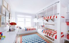 Kids Bunk Room With Patriotic Color Theme