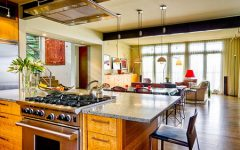 Kitchen Combined Living Room Designs