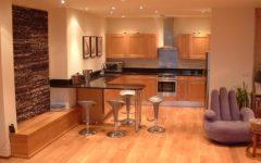 Kitchen Open to Living Room Minimalist Design