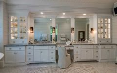 Large White Bathroom With Dressing Table