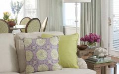 Living Room Showcases Soft Colors and Stylish Patterns