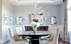 Luxury American Dining Room With Crystal Chandelier